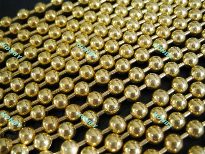 Gold Ball Chain Curtain