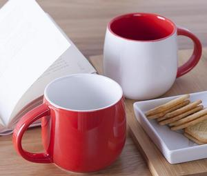tumbler cups red and white coffee mugs ceramic white porcelain tea cup sets bone china cup OEM ODM promotion