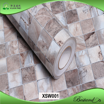 High Quality Vinyl Washable Wallpaper Mosaic Style Water Proof Wallpaper  Kitchen/bathroom Wallpaper