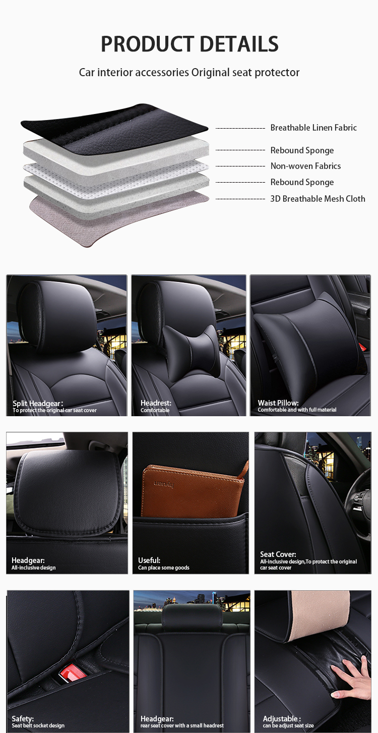 ZT-P-092 exclusive car seat covers stylish exact fit