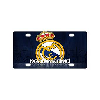 Custom Fc Real Madrid Metal License Plate Custom Car Decoration License Plate Cover Car Tag-9