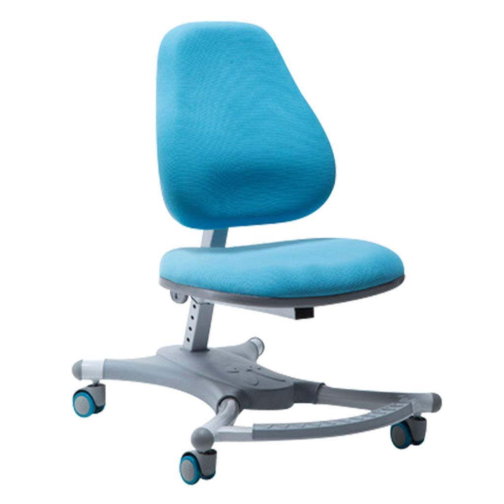 Desk Chairs Learning Chair Writing Chair Home Chair Correction Chair Student Chair Ergonomic Chair Adjustable Lift Can Bear 500 kg (Color : Blue, Size : 555870-90cm)