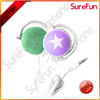cindy 's customer logo printed and with PVC pouch packing ear hanging type earphone