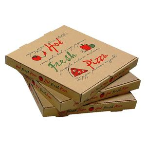 Wholesale cheap printed logo round custom pizza box