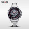 WEIDE New Vintage Vogue Quartz Watch Waterproof LCD Cheap Silicone Rubber Strap Watches Men
