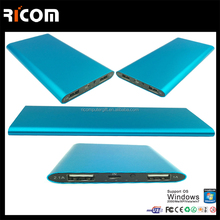 2016 Ultra slim aluminum case charge power bank 4000mAh for iPad, iPhone and smartphone