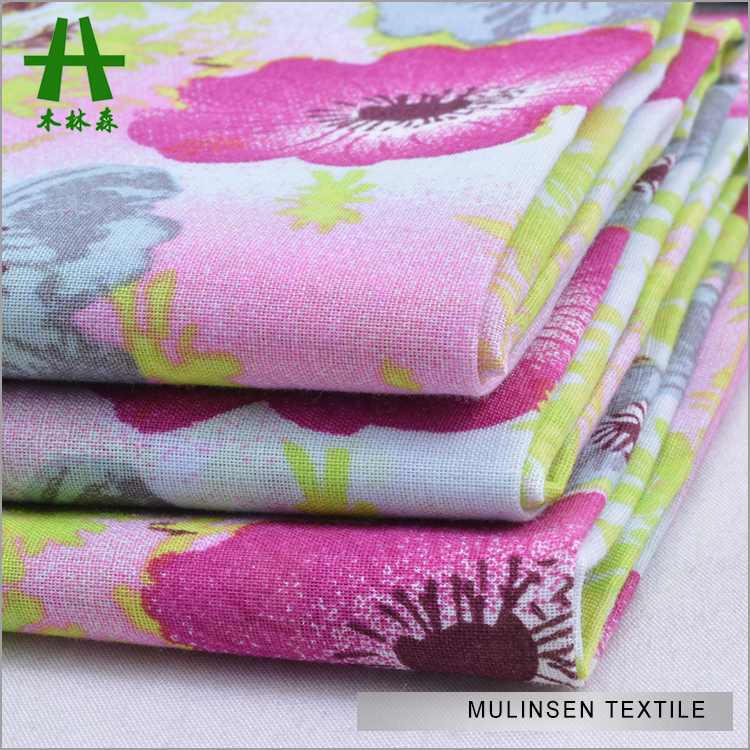 Mulinsen Textile Flower Design 60s Cotton Voile Printed Reactive Fabric For Kids Dress