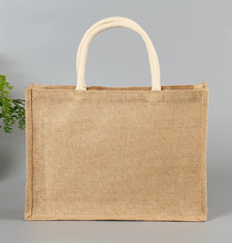Eco-friendly a buon mercato di Iuta tote shopping bag