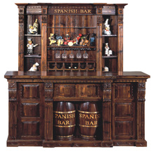 European Antique wooden wine counter bar Design For Home mini bar place