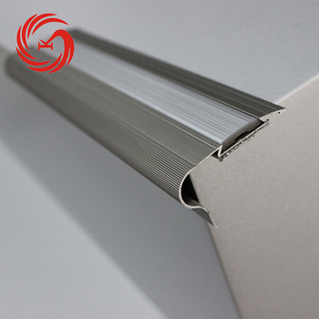 New Bullnose Safety Stair Treads Aluminum Concrete Anti Skidding Rubber  Stair Nosing