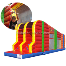 Zip line outdoor inflatable interactive sport games equipment / mobile inflatable Z-Rider Zipline for parties with spare kits
