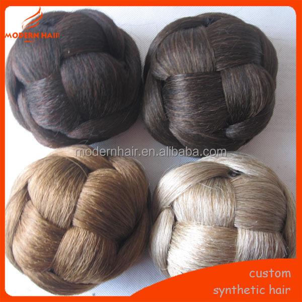 Hair Bun Fake Hair Bun Hairpiece Sham Chignon - Buy Synthetic Buns ...