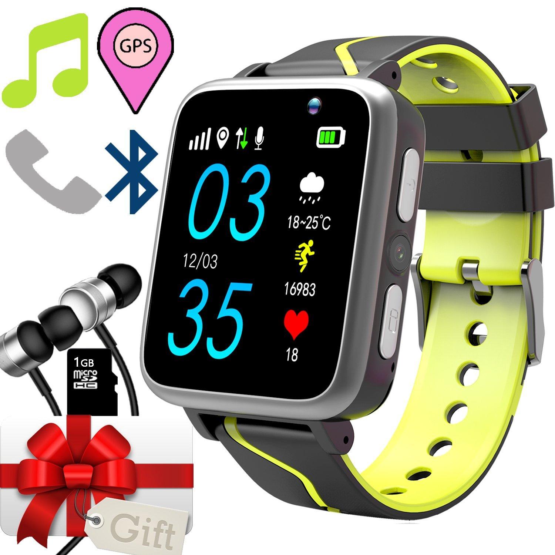 Jesam Kids Smart Watch With Music Player - GPS Tracker Watch With MP3 Player Bluetooth Smartwatch with Activity Fitness Tracker Pedometer Camera FM Alarm Clock Flashlight for Girls Boys