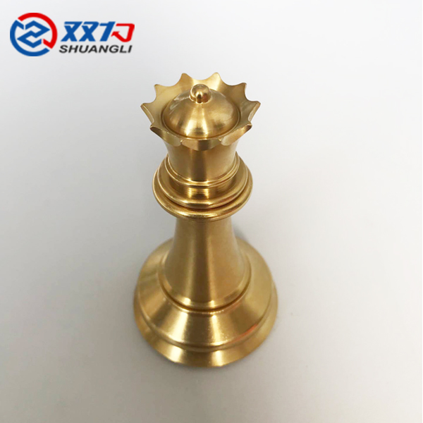 Titanium cnc parts golden chess bishop