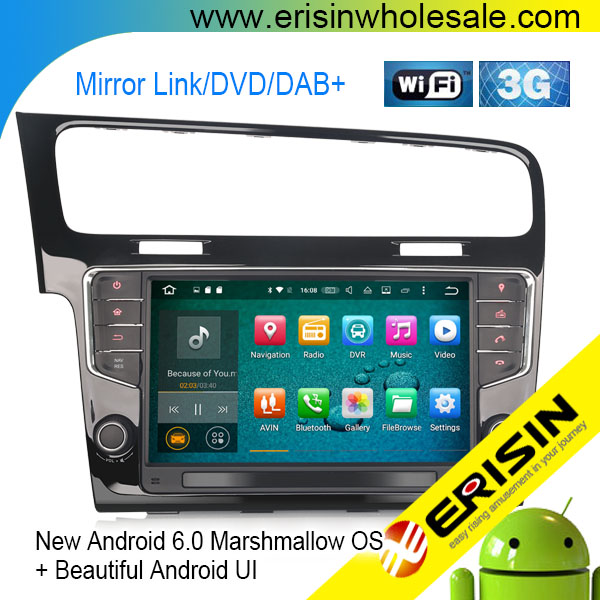 "Erisin ES5917V 9"" Android 6.0 Car Audio System WiFi 3G GPS DVR for VW Golf 7"