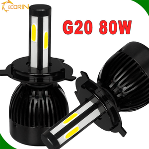 Wholesale 4 Side 8000Lm 40W H7 9005 9006 Fan Led Headlights Bulb, High Power 100watt led light bulbs Headlight H11 H4