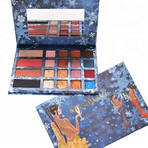Private Label Make Up Cosmetics Matter Shimmer Glitter Eyeshadow Palette Imported Wholesale Makeup Kit