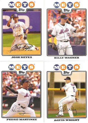 2008 Topps New York Mets Complete Team Set ( 20 - Baseball Cards from both Series 1 & 2) Includes David Wright, Jose Reyes, Carlos Delgado and more !