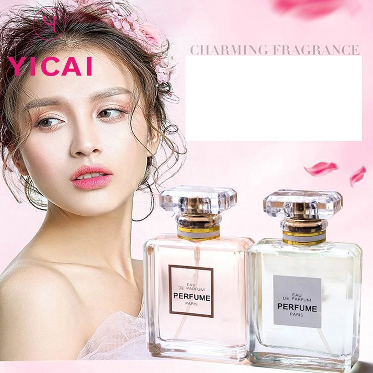 Free Sample Luxury Woman 50ml Square Spray Glass Perfume Bottle 50 ml Wholesale