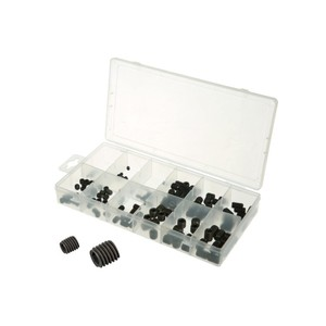 160PC Metric Carbon Steel Set Screw Cup Point Kit