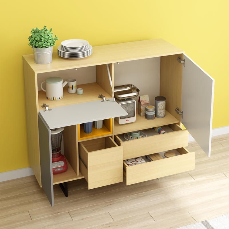 Space saving furniture dining room sideboard cabinet