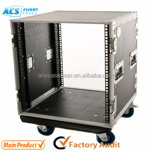 "aluminum laptop rack case,ATA Flight rack case ,19"" / 14"" amplifier rack case factory price"
