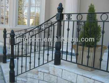 Top selling classic wrought iron railings outdoor buy curved wrought iron stair railings for Curved metal railings exterior