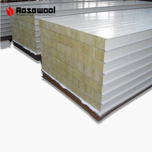 High Heat Resistance exterior wall cladding rock wool sandwich panel decorative insulation wall board