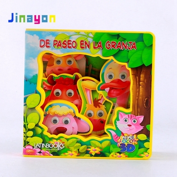 Jinayon Custom Design Animal Shape Children Educational EVA Book Kids 3D story Learning Book