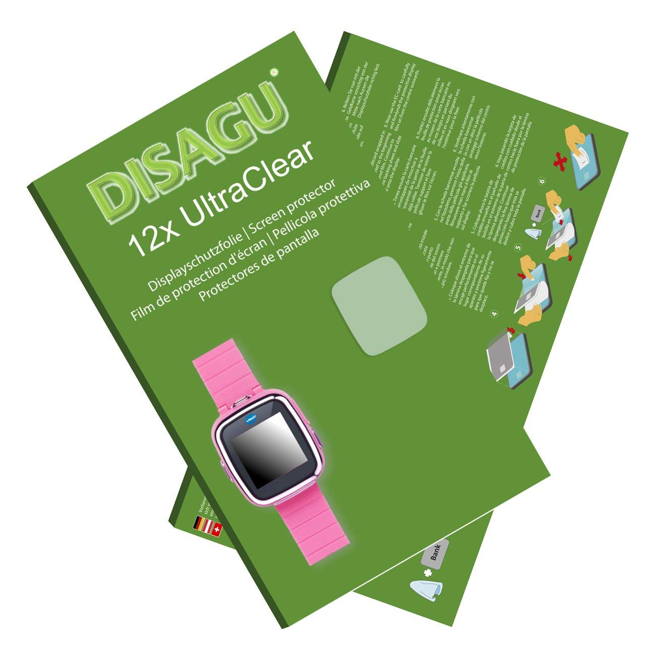 DISAGU 12x Ultra Clear Screen Protector for Vtech Kidizoom Smart Watch 2