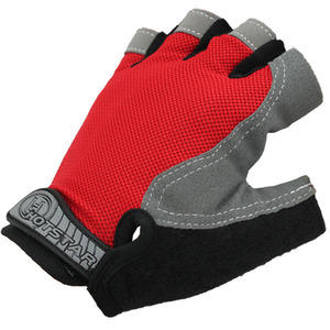 Factory wholesale custom outdoor sports protection red half finger riding bike gloves