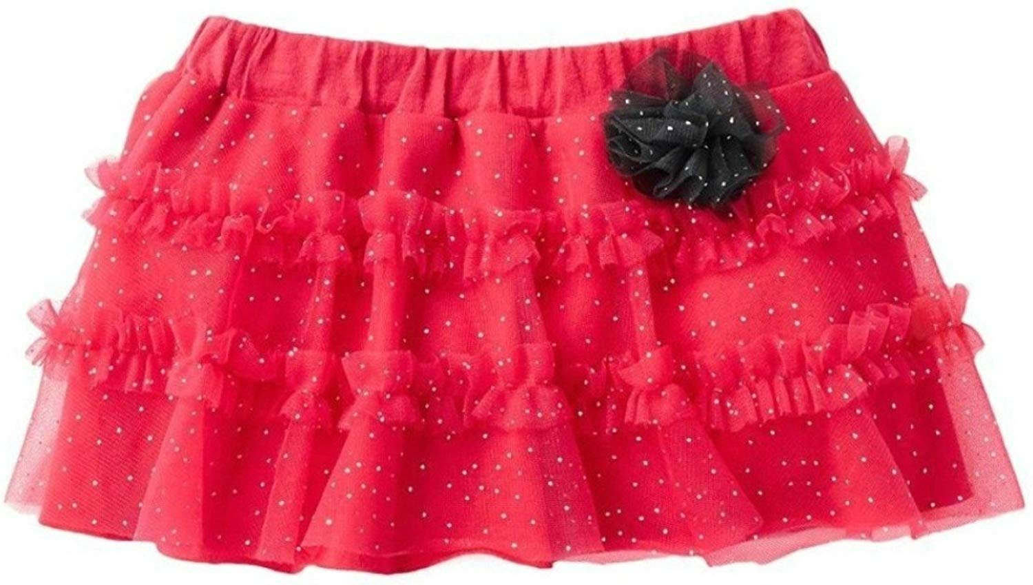 Baby Starters Baby Girls Ruffled Glitter Tulle Tutu Skirt by 9 Months - Hot Pink