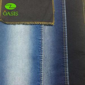 Wholesale indigo100% cotton recycle denim fabric for fashion jeans