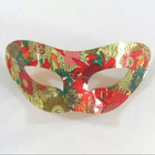 fashion newest plastic acrylic party silver gold face mask