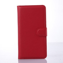 Lychee Folio Wallet Stand Leather Case for Lenovo S850