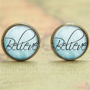 Believe Earring Pray Faith Inspirational People Art Print Photo Gift