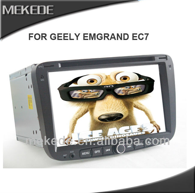 7 inch car stereo for EC7 Geely Emgrand 2012 built-in gps bluetooth ipod tv radio rds rear view camera full function+map gift