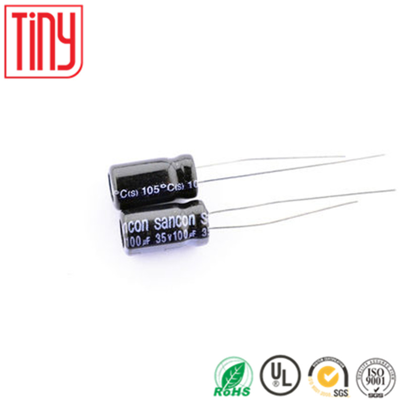 NEW ORIGINAL 100uf 35v 6.3*11 105C Aluminum electrolytic capacitor(10pieces)
