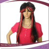 women fashion synthetic halloween party red and black mixed color wig