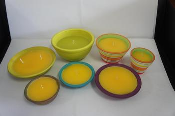 Outdoor Citronella Candles In Colored Ceramic Holder Garden Oil Terracotta Dish Candle