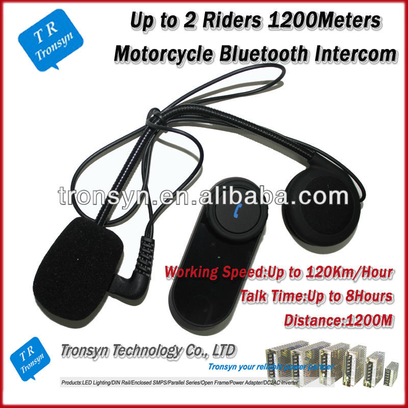 Hot selling 2013 New Arrival 1000Meters Motorcycle Helmet Bluetooth wifi intercom Built-In FM Radio