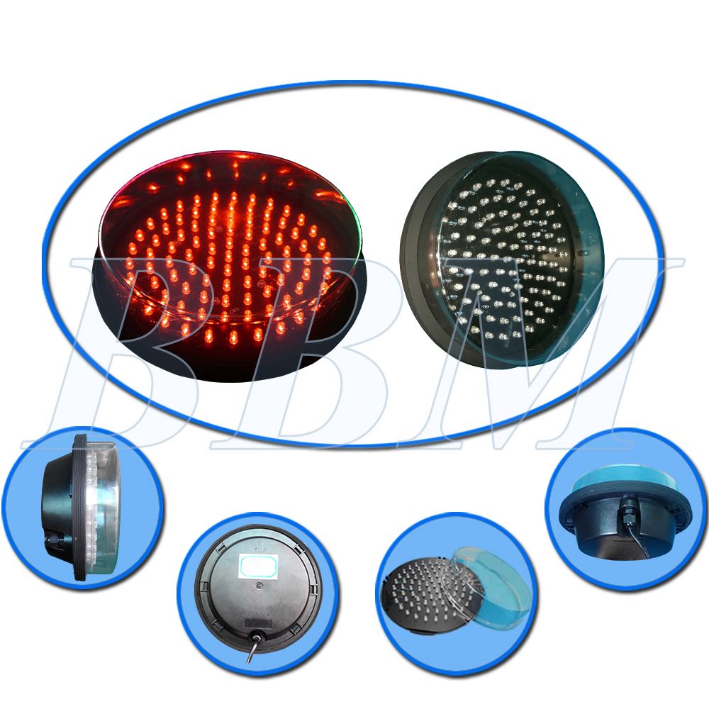 Red led traffic lamp module 200mm