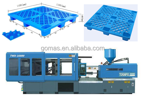 plastic pallet injection molding machines,plastic pallet making machines