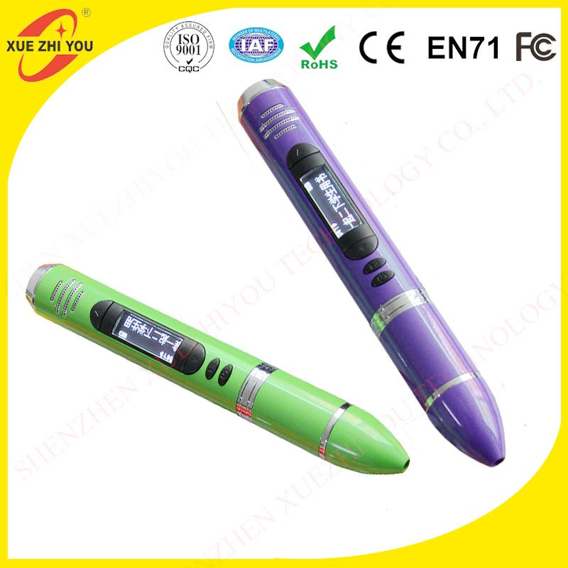 Factory customize toys kids talking pen kids touch reading pen with english translation