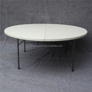 Foldable Plastic round table for 10seater