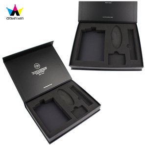 China Supplier Craft Premium Wholesale Magnetic Paper Gift Box/Closure Black Bridesmaid Paper Gift Box With Foam Insert