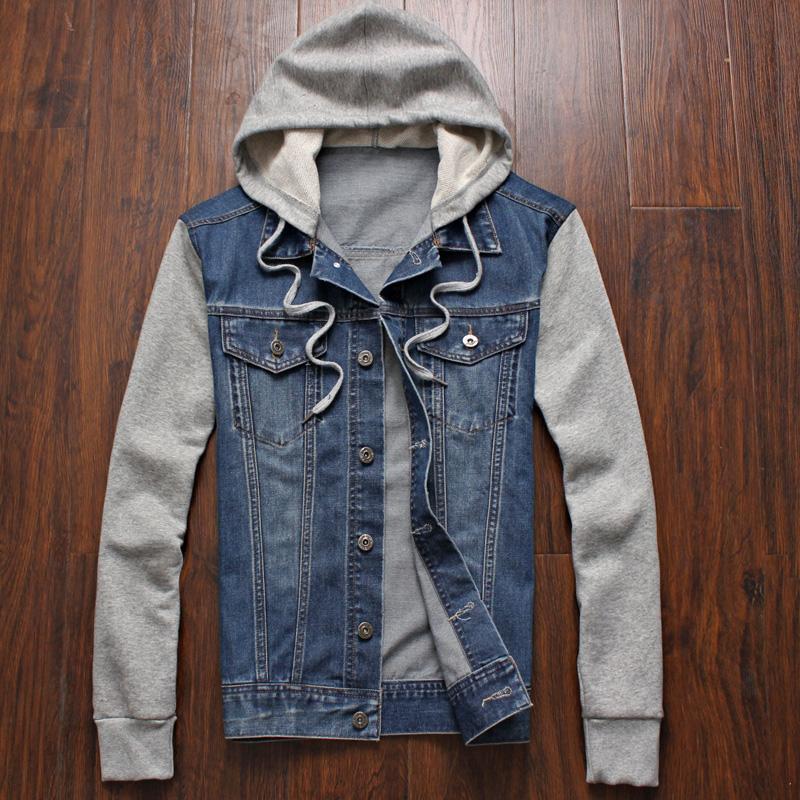 los angeles c67b1 d2e79 Denim Jacket men hooded sportswear Outdoors Casual fashion ...