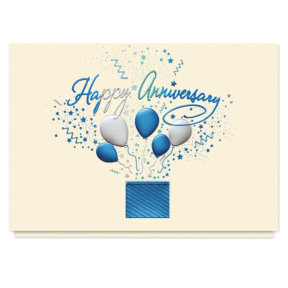 get quotations bursting anniversary wishes card 25 premium anniversary cards with foiled lined envelopes - Work Anniversary Cards
