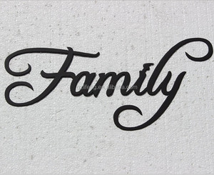 Family Word Home Decor Metal Wire Wall Art