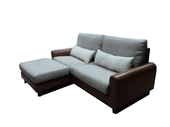 Latest Design Half Leather Corner Fabric Sofa